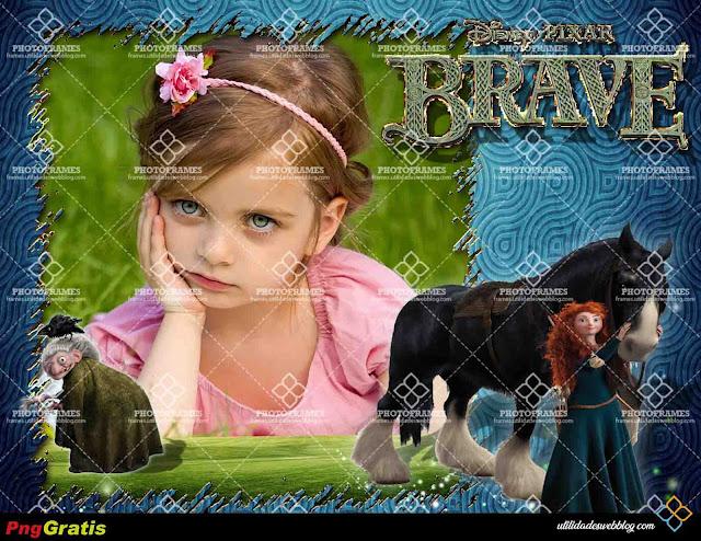 Marco digital para fotos infantiles inspirado en Brave