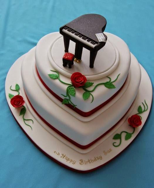 HD BIRTHDAY WALLPAPER : Birthday Heart Cake For Lover