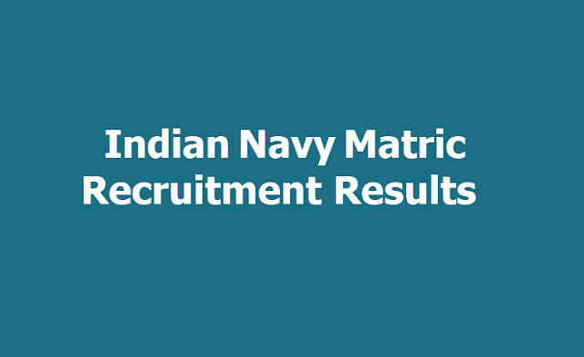 Indian Navy Matric Recruitment Results