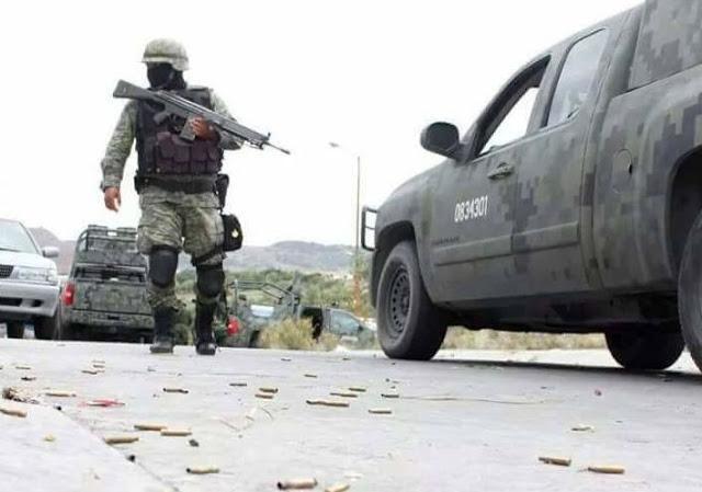 """""""Elementos del Ejército Mexicano repelieron a balazos un ataque de integrantes de la temida Fuerza Coahuila tras interceptar  a militar y querer desarmarlo"""""""