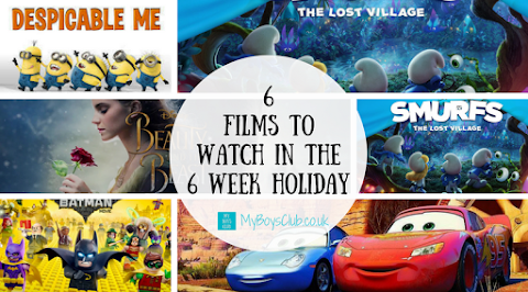 6 Films to Watch in the 6 Week Holiday at home with the Kids (AD)