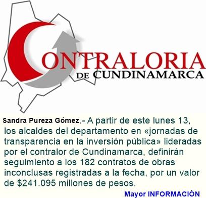 Los alcaldes en Cundinamarca con obras inconclusas responden ante la Contraloría Departamental
