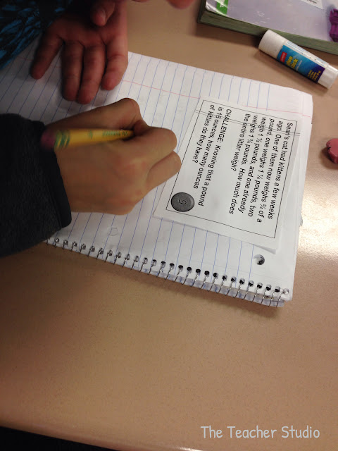 Solving word problems in math workshop