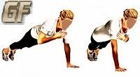 shoulder tap Cara melatih otot dada dirumah tanpa alat