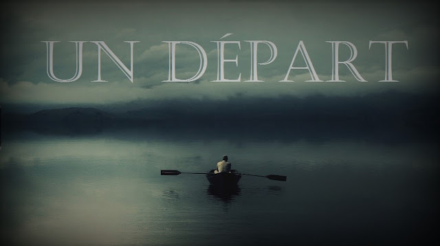 Image du départ d'un bateaux dans le calme