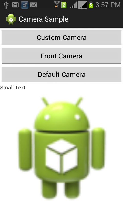 Android custom camera