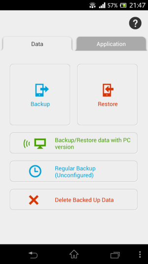 JS Backup android App