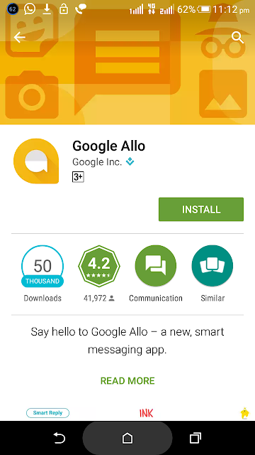 How to install Google Allo in Android Versions?