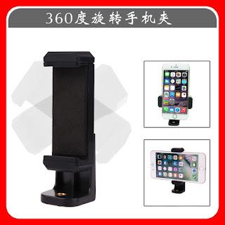 Universal 360 Rotatable Phone  Bracket mount Holder Clip Adapter For Tripod Monopod Selfie