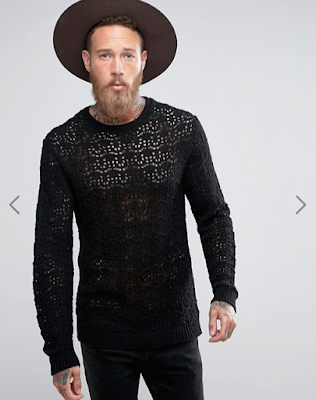Whoopidooings: Mens crochet jumper bought from ASOS