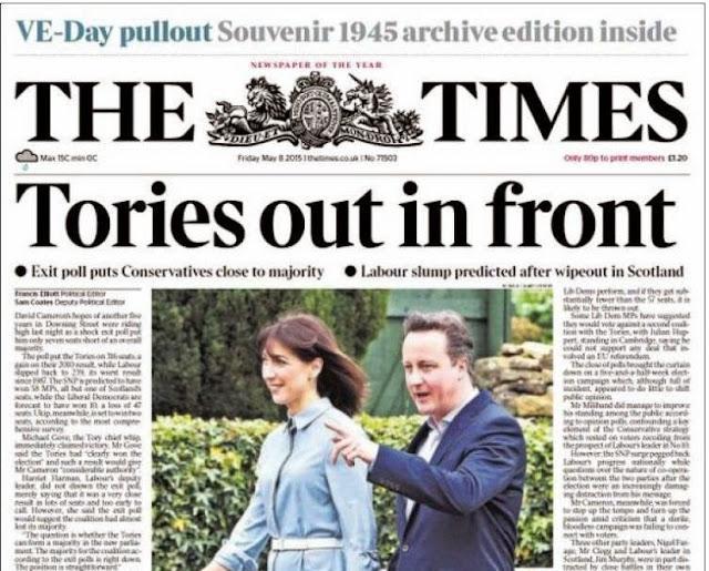 Jornais britânicos foram surpreendidos pelo resultados eleitorais