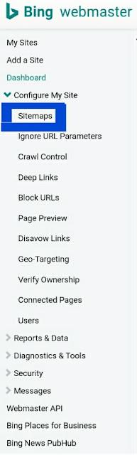 Cara Subbmit Sitemap atau peta situ blog ke google bing dan google webmaster tool