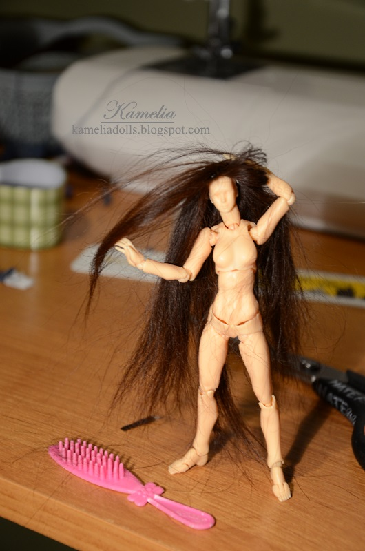 How to make wig in 1/12 scale.