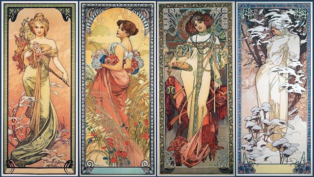 As Quatro Estações, de Alphonse Mucha