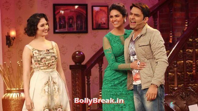 Tamanna Bhatia, Esha Gupta and Kapil Sharma, Esha Gupta, Tamanna, Humshakals Cast on CNWK