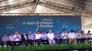 Michel Temer une Ricardo Coutinho,Cássio Cunha Lima e Zé Maranhão durante visita