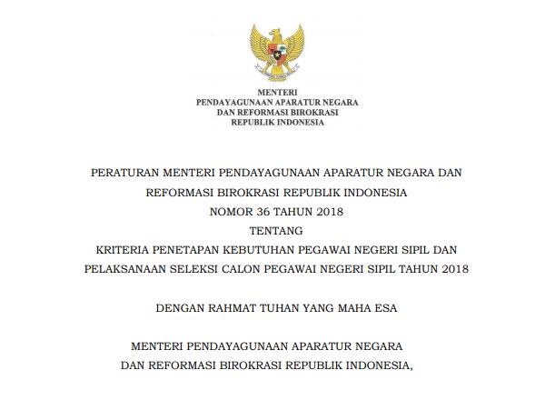 Kriteria Penetapan  Kebutuhan PNS dan Pelaksanaan Seleksi CPNS Tahun  Kriteria Penetapan  Kebutuhan PNS dan Pelaksanaan Seleksi CPNS Tahun 2018