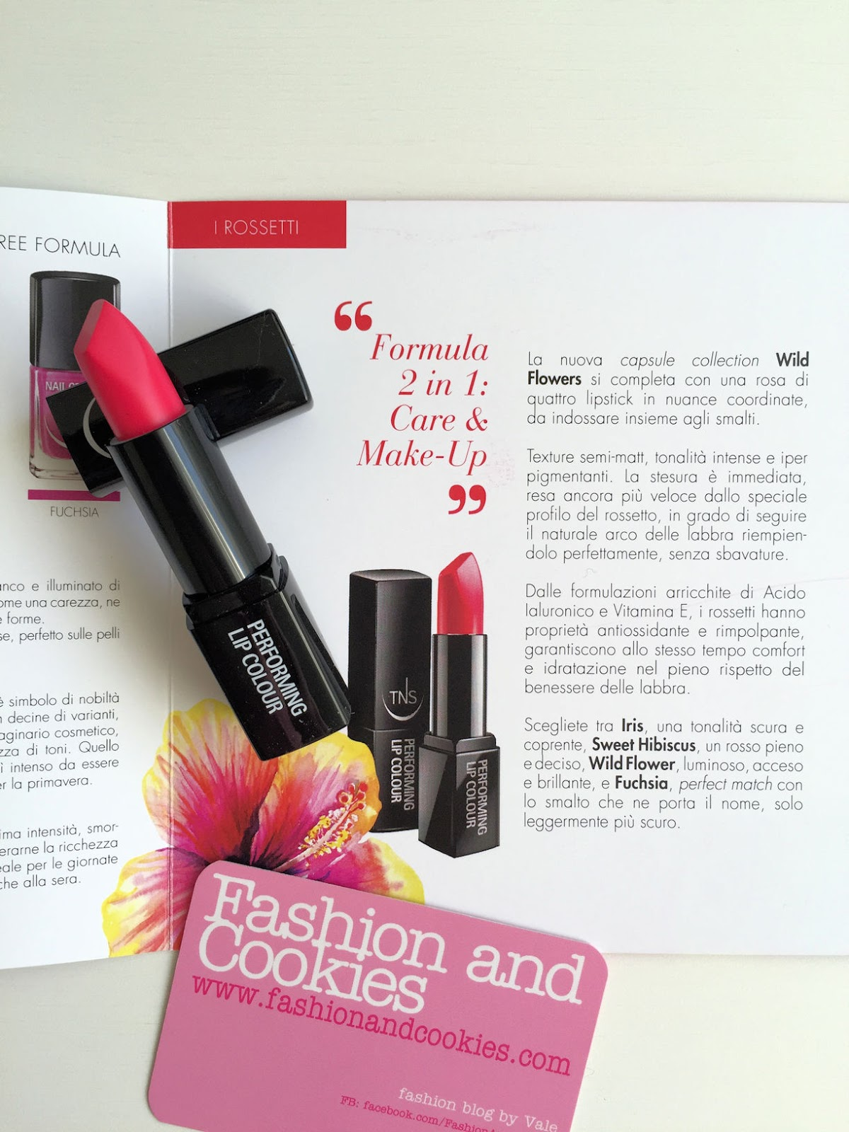 TNS Cosmetics Wild Flower lipstick review on Fashion and Cookies beauty blog, beauty blogger