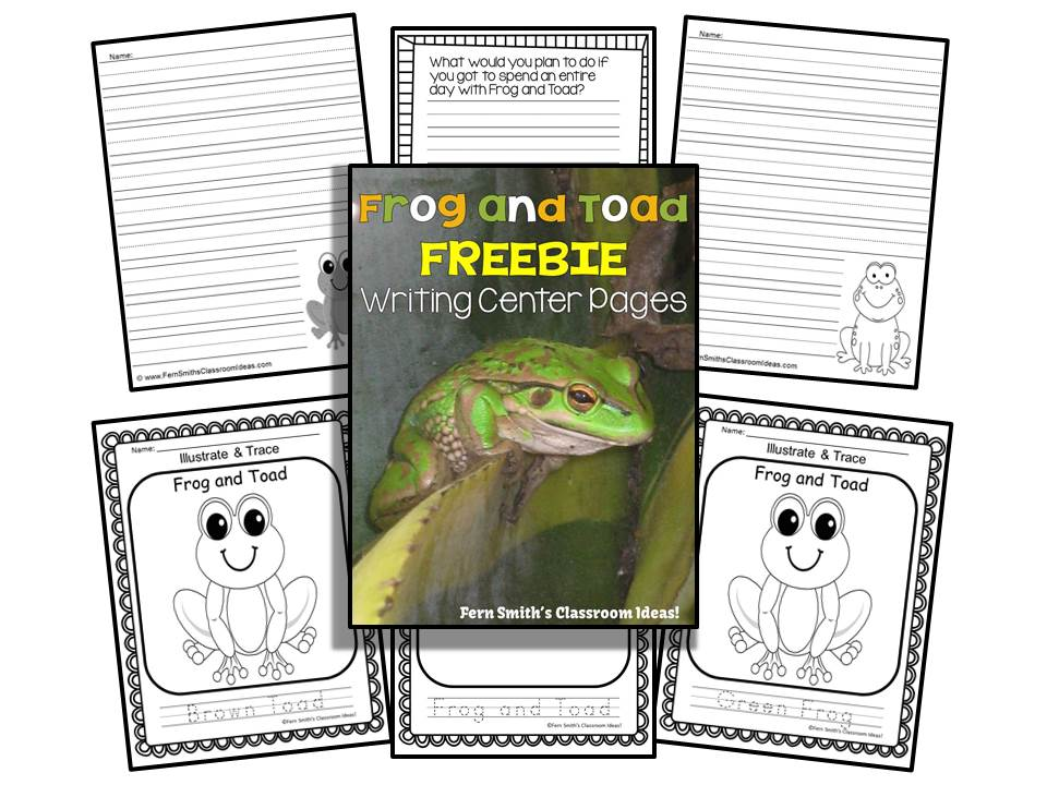 Fern Smith's Classroom Ideas Freebie Friday ~ FREE Frog and Toad Writing Center Pritables