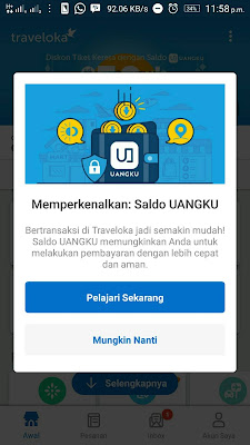 TravelokaPay dan Uangku