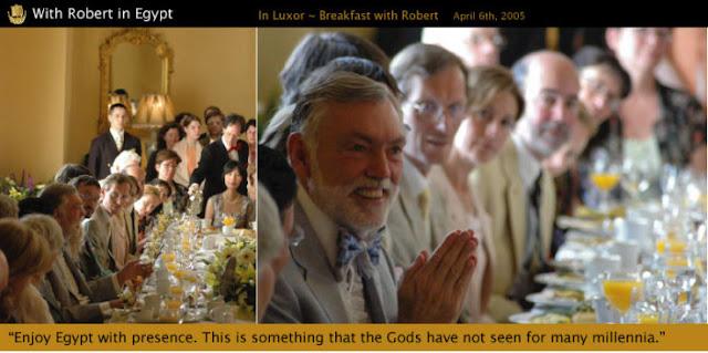 Fellowship of Friends cult 2005 e-mail solicitation for Robert Earl Burton's Egypt travels (R. E. Burton, dandy)