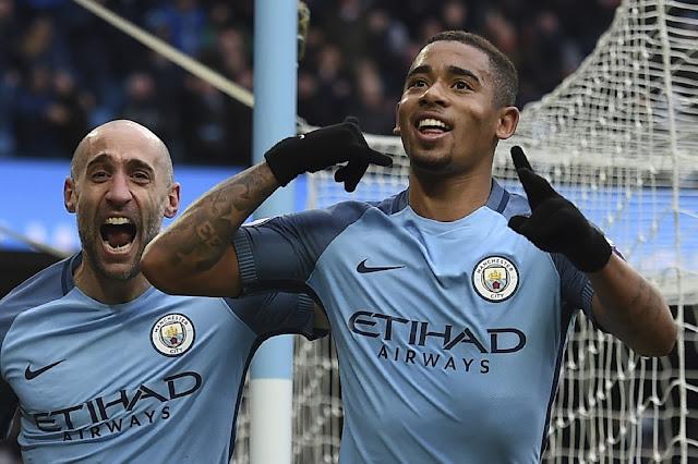 O atacante Gabriel Jesus, de 19 anos, é a nova sensação do futebol inglês (Foto: Paul Ellis/AFP)