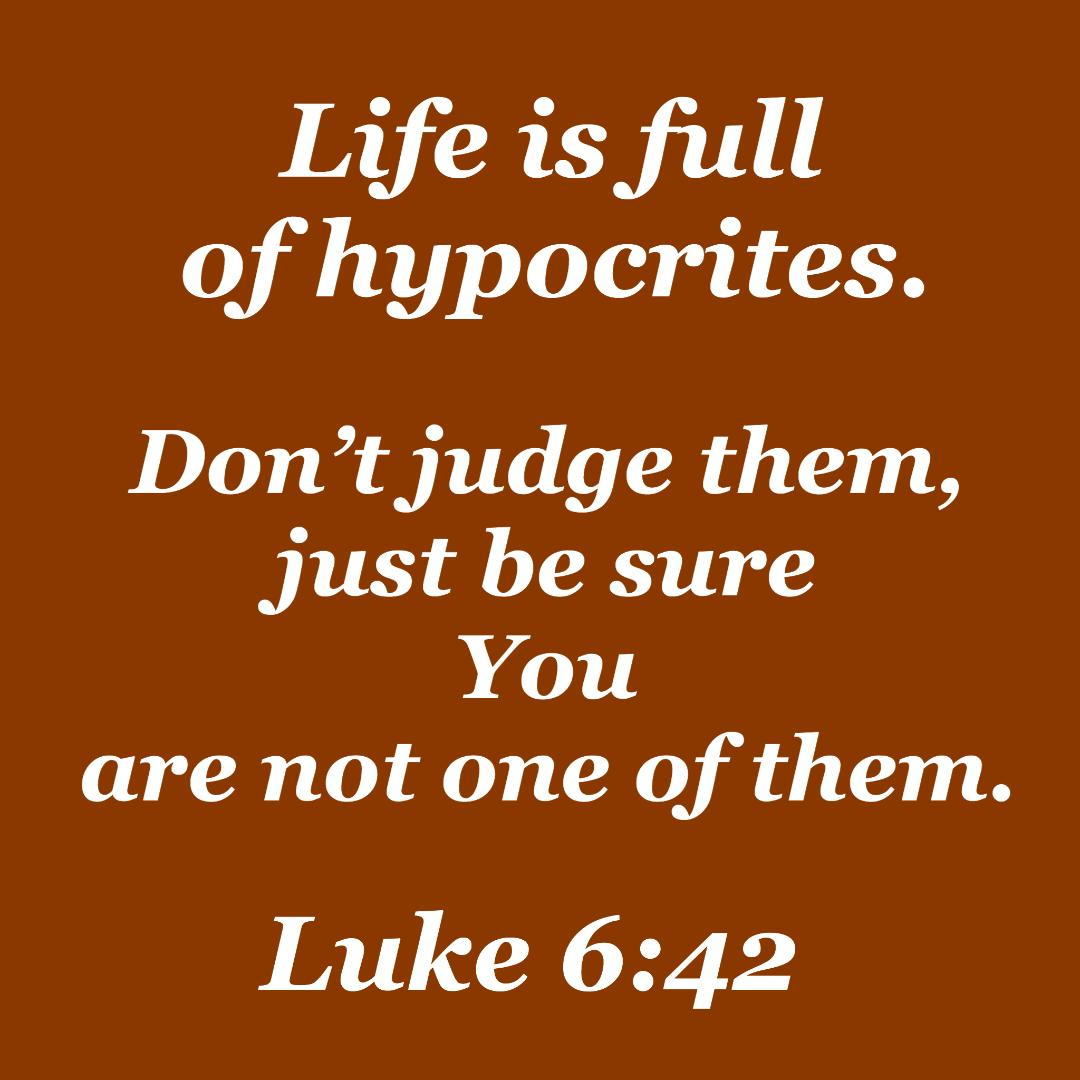 Fighting the sin of hypocrisy: the main thing that God will think about us