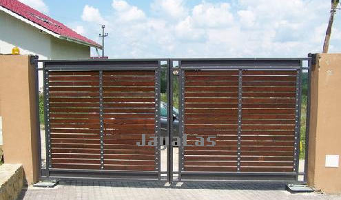 contoh gambar pintu pagar besi tempa modern terbaru 2017