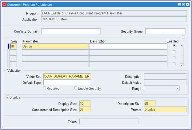 Oracle view with parameters