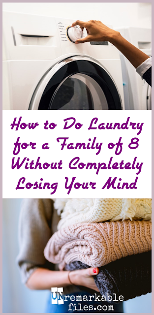 All the laundry hacks for big families you could hope for, from start to finish.  {posted @ Unremarkable Files}