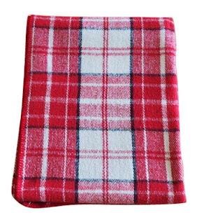 red plaid wool blanket