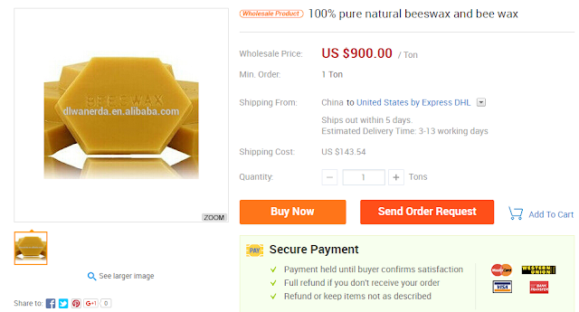 Αυτή είναι η τιμή κεριού μέλισσας απο την Κίνα