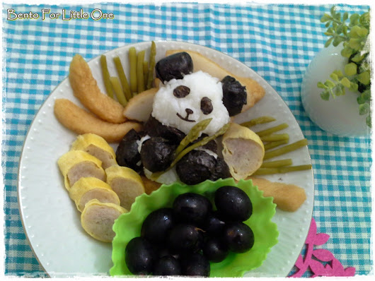 Bento for Little One: 3D Panda