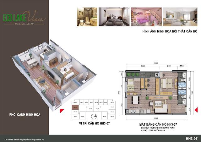 Thiết kế căn hộ số 07 tòa HH03