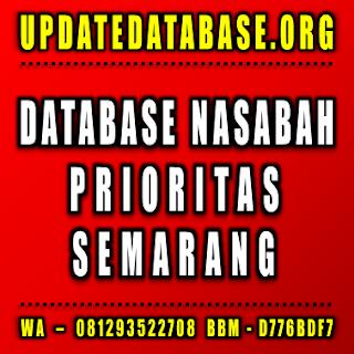 Jual Database Nasabah Prioritas Semarang