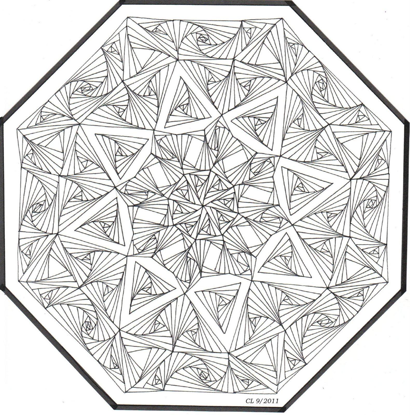 Kaleidoscope Ca: Alphabee Tangles: September 2011