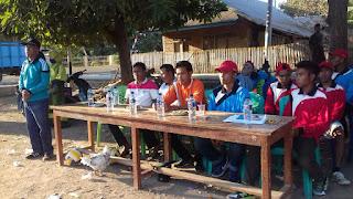 Wujud Pengabdian terhadap Masyrakat Mahasiswa KKN Taman Siswa Bima Sukses Adakan Turnamen Volly Antar Desa