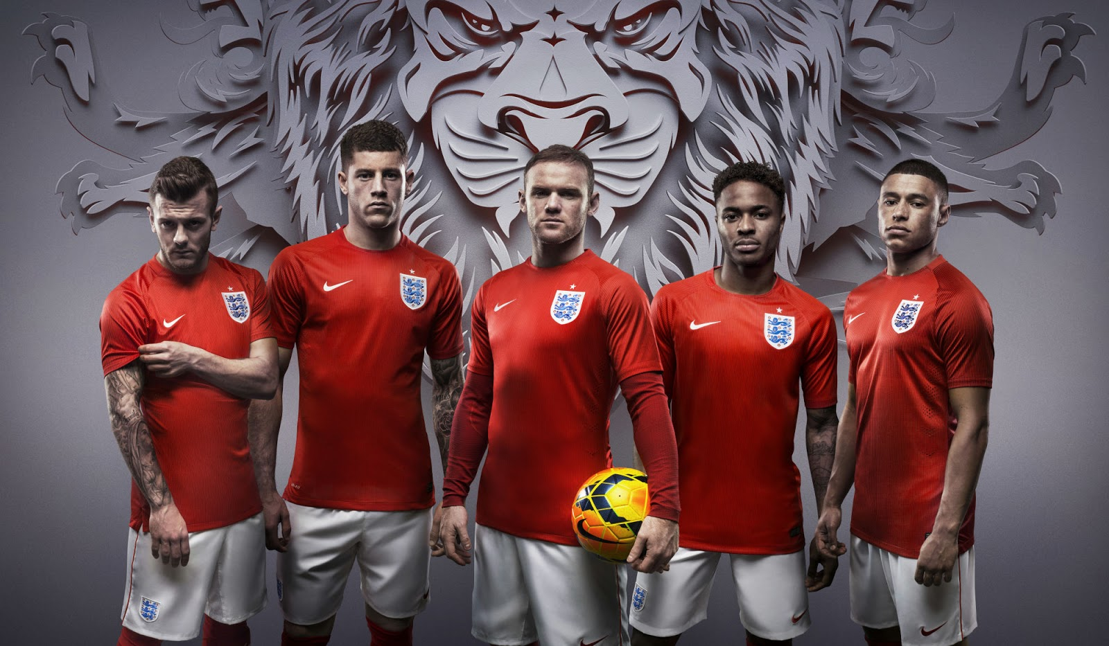 Nike england 2014 world cup home and away kits released for New england kit homes