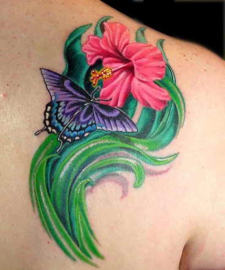 Tatuajes de flores de hibisco