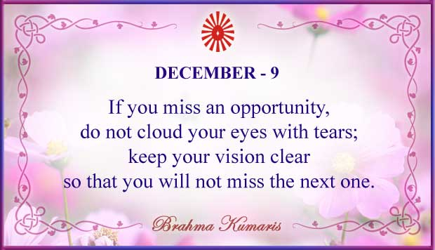 Thought For The Day December 9