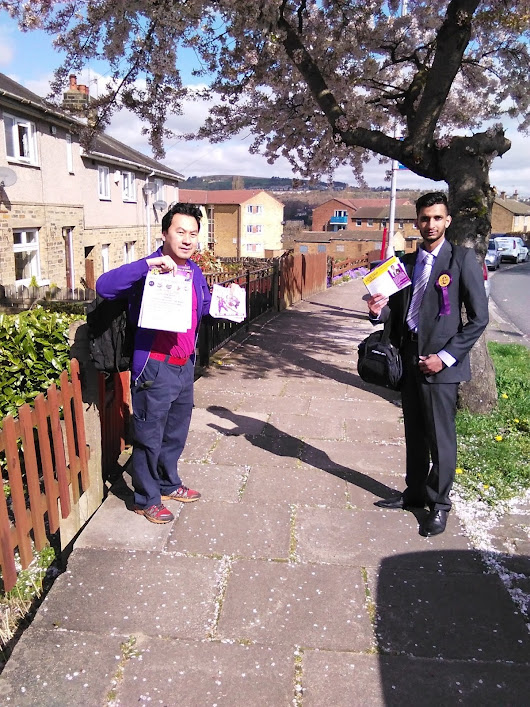 Flyering in Windhill and Wrose 2015