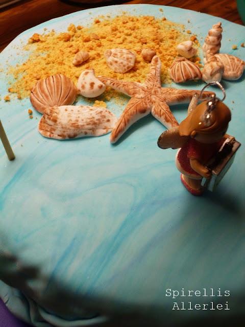 Spirellis Allerlei - Meerestorte mit Stranddekoration