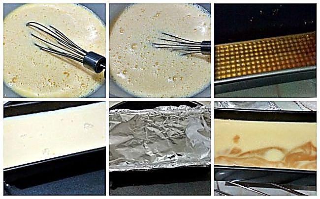 Preparación del flan de huevo con leche condensada