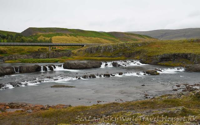 Fossatun Hotel, Trollafossar瀑布, iceland, 冰島