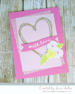 With Love card-designed by Lori Tecler/Inking Aloud-stamps and dies from Lil' Inker Designs
