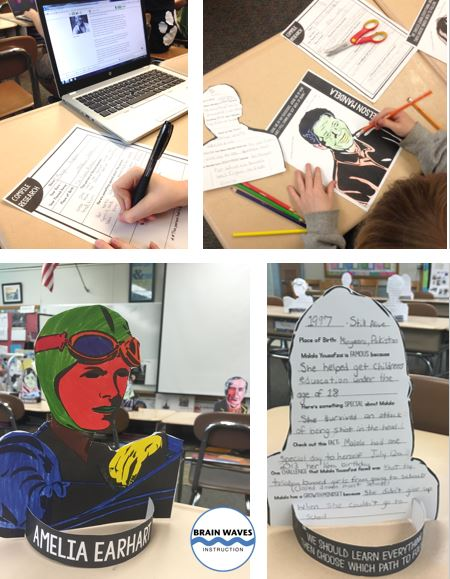 Help students learn about growth mindset as they research famous people with a growth mindset. Then, have them turn their research into a 3D growth mindset project!