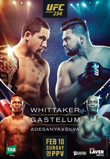 Watch UFC 234: Whittaker vs. Gastelum Online Free 2019 Putlocker
