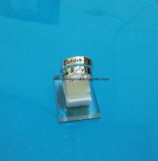 cincin nama couple perak simpel elegan