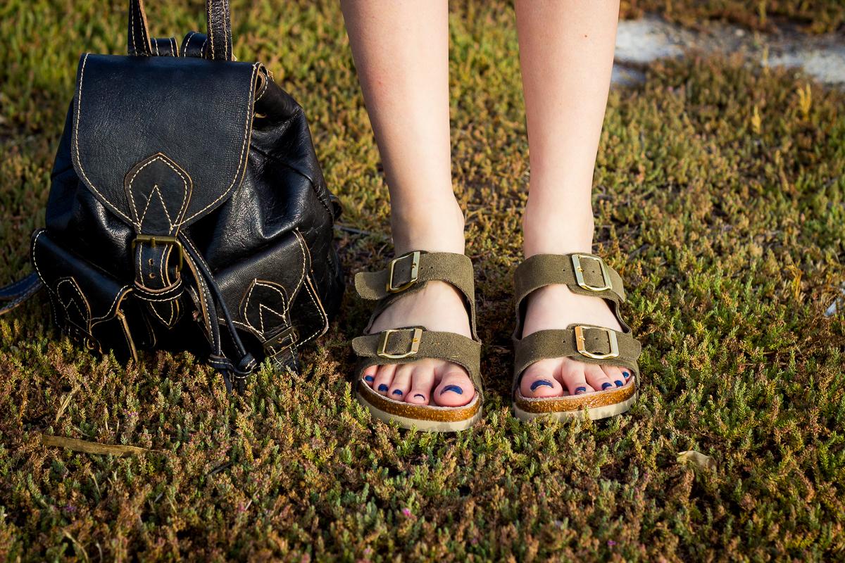 Palm Print Shoes Heels