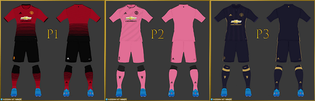 PES 2017 Manchester United Full Kits 2018 By Mohamed Essam